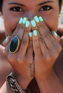 bright green turquoise for dark