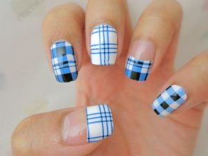 blue plaid combo