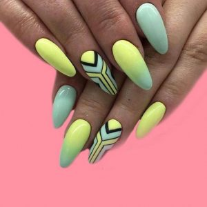 green yellow geometric black