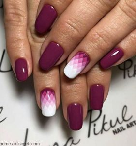 geometric ombre design