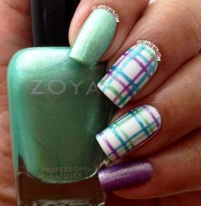 green purple plaid design