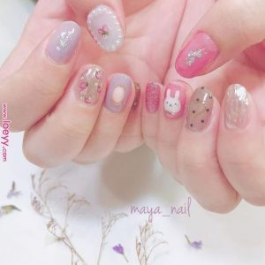 kawaii pearls pink
