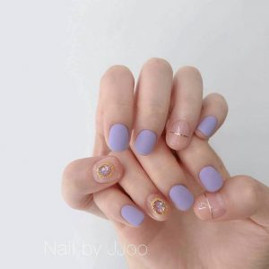 korean blue purple simple