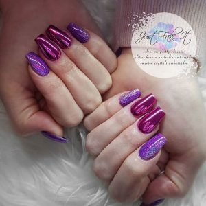 pink and purple chrome design