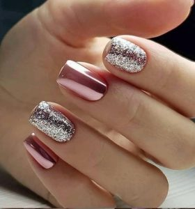short pink chrome silver