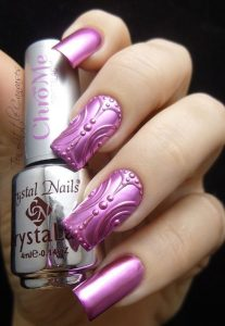 3d pink chrome design