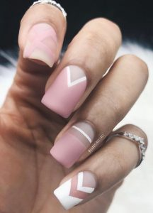 matte white pink shapes