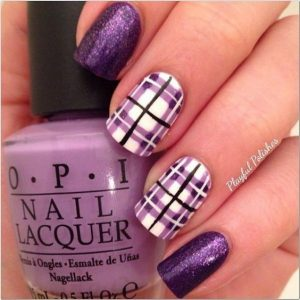 plaid purple glitter