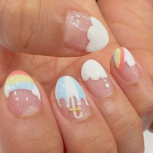 kawaii rainbow umbrella