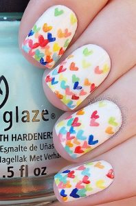 heart rainbow design
