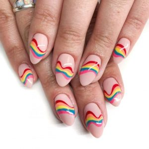 rainbow swirl striping