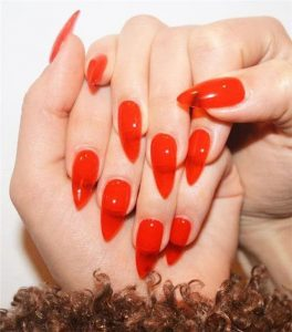 solid red jelly nail