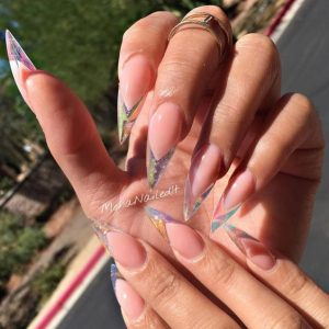 clear long nail ends