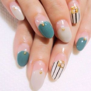 kawaii striping blue