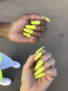 dark skin neon yellow