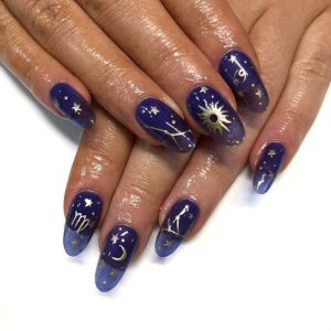 constellation jelly nail