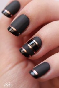 rose gold stripes matte black