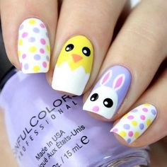 easter bunny chick dots