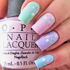 pastel dot easter nails
