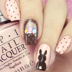 easter basket nails
