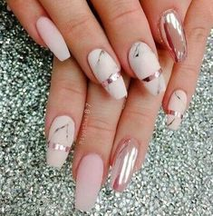 rose gold white marbling