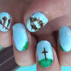 cross easter nail
