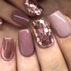 big glitter rose gold