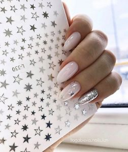 milk white stars chrome