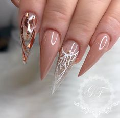 dramatic rose gold chrome