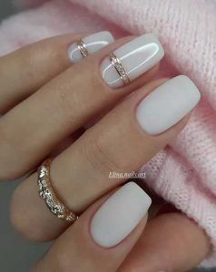 milk white matte shine