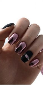 chrome mauve black