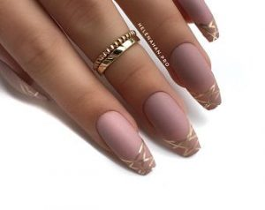 mauve gold striping short