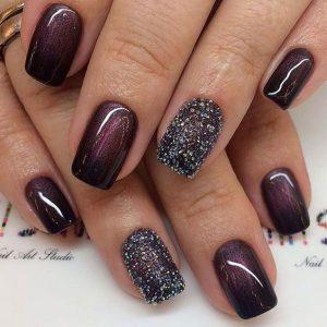 glitter dark maroon