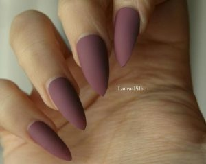 matte dark mauve stiletto