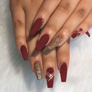 clear space matte maroon