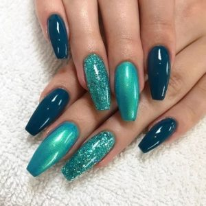 shades of teal combined