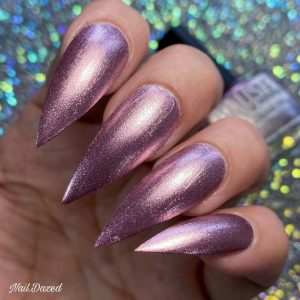 stiletto mauve metallic