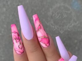 long pink marble