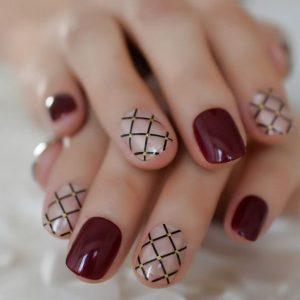 clear line burgundy pattern