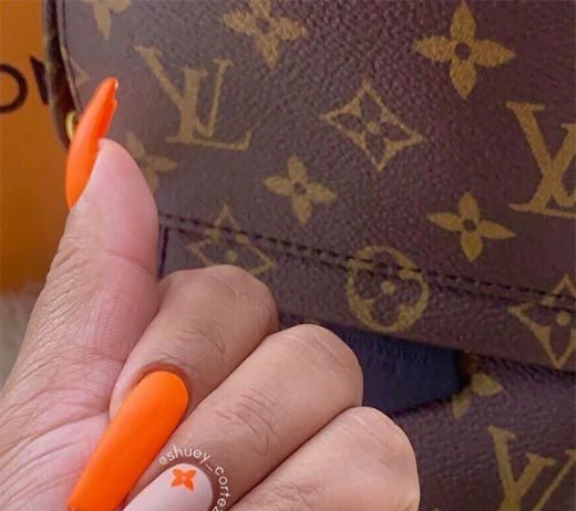 louis vuitton bright orange nails