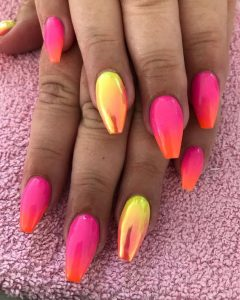 ombre chrome pink