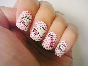hello kitty nails for kids