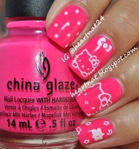 hello kitty nails design