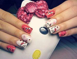 hello kitty fake nails