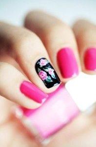 pink short nails