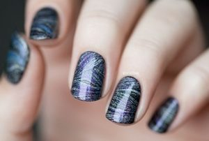 galaxy marble nails
