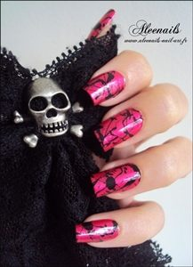 gothic marble nails
