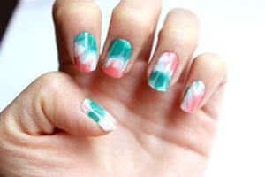 italia flag nails