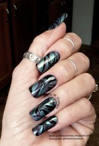 metallic marble nails