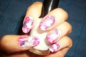 pink purple marble nails